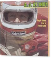 A.j. Foyt, 1981 Indy 500 Qualifying Sports Illustrated Cover Wood Print