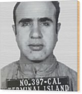 Al Capone Mugshot 1939 - T-shirt Wood Print