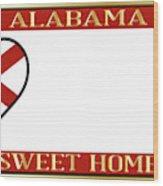 Alabama State License Plate Wood Print