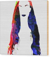 Alanis Watercolor II Wood Print