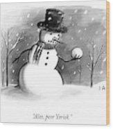 Alas, Poor Yorick Wood Print