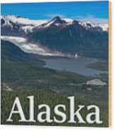 Alaska - Mendenhall Glacier And Auke Lake Wood Print