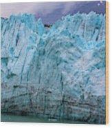 Alaskan Blue Glacier Ice Wood Print