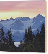 Alaska's Kenai Mountains At Dawn Wood Print