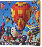 Albuquerque Balloon Fiesta Wood Print
