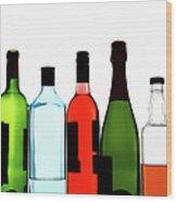 Alcohol Wood Print