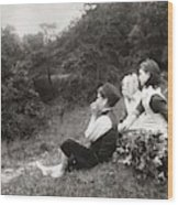 Alexander Keighley - Children On A Picnic, Ca 1890 Wood Print