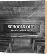 Alice Cooper Schools Out Wood Print