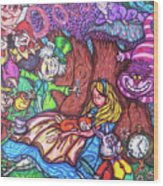 Alice In Wonderland  Wood Print
