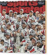 All Caps Washington Capitals, 2018 Nhl Stanley Cup Champions Sports Illustrated Cover Wood Print
