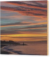 All Saints Day Sunrise Wood Print
