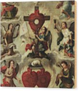Allegory Of The Holy Eucharist Wood Print