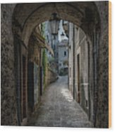 Alleys Of San Marino Wood Print