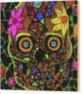 Alma, Sugarskull Wood Print