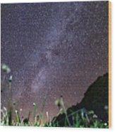 Alpine Milky Way Wood Print