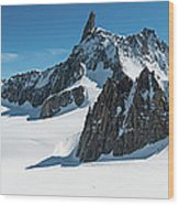 Alps White Wilderness Dramatic Wood Print