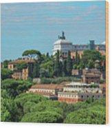 Altare Della Patria Wood Print