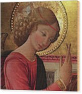 Altarpiece Angel Antique Christian Catholic Religious Art Wood Print