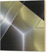 Aluminum Surface. Metallic Geometric Image.   Wood Print