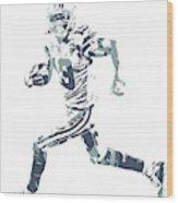 Amari Cooper Dallas Cowboys Pixel Art 3 Wood Print