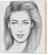 Amber Heard Wood Print