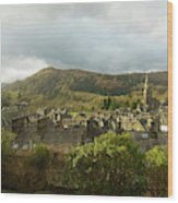 Ambleside Rooftops In The Lake District National Park Wood Print