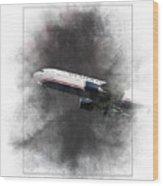 American Airlines Boeing 767-200 Painting Wood Print