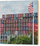 American Georgia Shipping Trade Wood Print