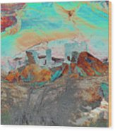 American Indian Home In Abstract Wood Print