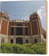 Ameriquest And Texas Rangers Strike Wood Print