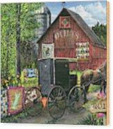 Amish Quilts Wood Print