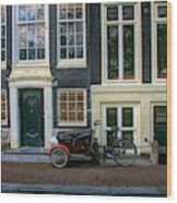 Amsterdam Bike Scene Wood Print