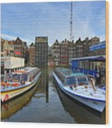 Amsterdam Central Wood Print