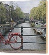 Amsterdam City Scene Wood Print