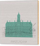 Amsterdam Landmarks Wood Print