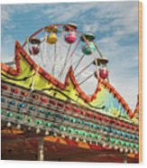 Amusement Park Fun Wood Print