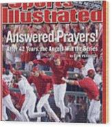 Anaheim Angels John Lackey, 2002 World Series Sports Illustrated Cover Wood Print