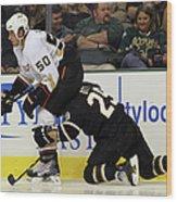 Anaheim Ducks V Dallas Stars Wood Print