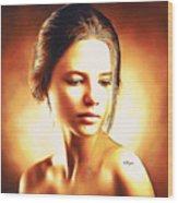 Anastasia Portrait Wood Print