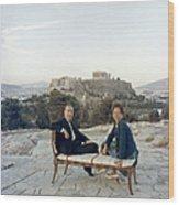 Ancient Greek Furniture Wood Print