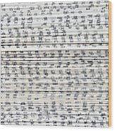 Ancient Paper Book Wood Print