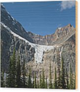 Angel Glacier Wood Print