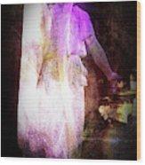 Angel In Black Wood Print