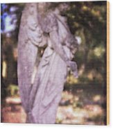 Angel Linen Wood Print