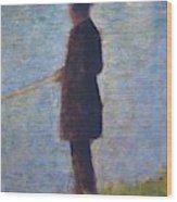 Angler 1884 Wood Print