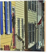 Annapolis Row Wood Print