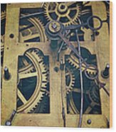 Antique Clock Gears, Cog And Parts Wood Print