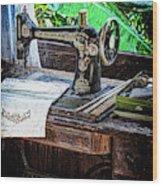 Antique Sewing Machine Wood Print
