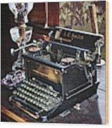 Antique Typewriter 2 Wood Print