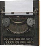 Antique Typewriter. Vintage Typewriter Wood Print
